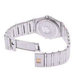 Omega White Stainless Steel Constellation 1572.30 Quartz Women's Wristwatch 25 MM