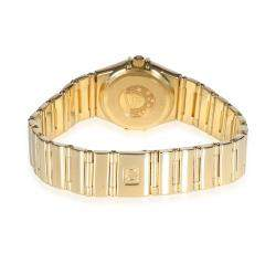 """ساعة يد نسائية أوميغا """"كونستلاشون"""" ذهب أصفر عيار 18 و صدف 23 مم"""