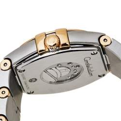 Omega Blue 18K Yellow Gold Stainless Steel Constellation 123.20.24.60.53.001 Women's Wristwatch 24 mm
