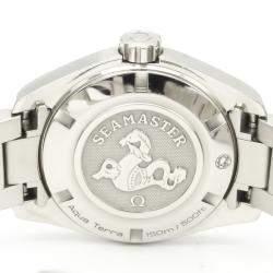 Omega Black Diamonds Stainless Steel Seamaster 231.10.30.61.56.001 Quartz Women's Wristwatch 30 MM