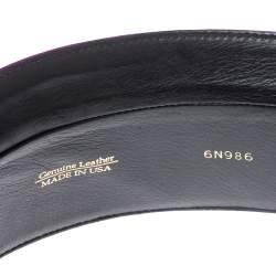 Oscar de la Renta Purple Satin Waist Belt Large