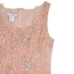 Oscar de la Renta Pink Floral Embellished Evening Gown Spring 2013 L