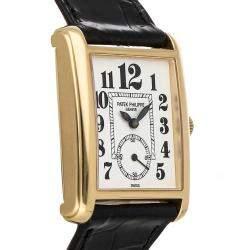 Patek Philippe White 18K Yellow Gold Gondolo 5014J-015 Women's Wristwatch 28 MM