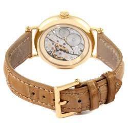 Patek Philippe Silver Diamonds 18K Yellow Gold Calatrava Moonphase 7121 Women's Wristwatch 33 MM
