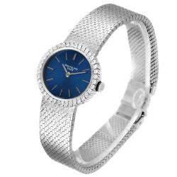 Patek Philippe Blue Diamonds 18K White Gold Classique 4175 Women's Wristwatch 24 x 21 MM