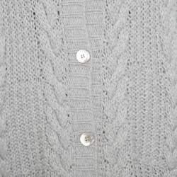 Paul & Joe Grey Chunky Knit Short Sleeve Long Cardigan L