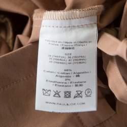 Paul and Joe Brown Lace Up Detail Tiered Veracruz Maxi Dress M
