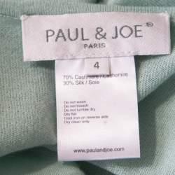 Paul and Joe Mint Green Cashmere and Silk Knit V-Neck Sleeveless Tunic M