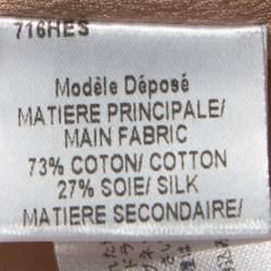 Paule Ka Blush Pink Floral Printed Cotton Silk Long Coat M
