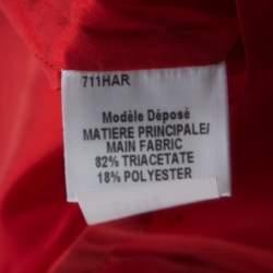 Paule Ka Red Cutout Shoulder Detail Pleated Sleeveless Belted Dress M