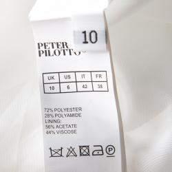 Peter Pilotto Blush Pink 3D Waffle Texture Printed Circle Dress M