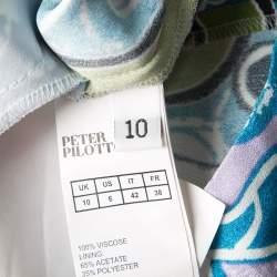 Peter Pilotto Multicolor Printed Crepe Cube Dress M