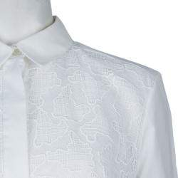 Peter Pilotto White Lace Detail Long Sleeve  Eero Blouse M