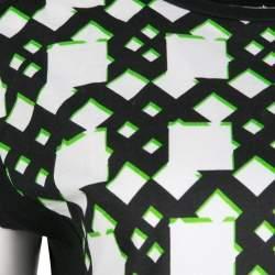 Peter Pilotto Black Geometric Print T-Shirt S