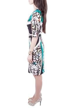Peter Pilotto Multicolor Digital Print Belted Sheath Dress M