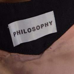 Philosophy Bicolor Paneled Noodle Strap Flared Dress S