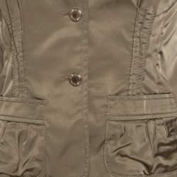 Philosophy di Alberta Ferretti Olive Green Satin Blazer and Trouser Set M