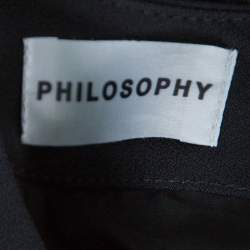 Philosophy Multicolor Snakeskin Printed Silk Pleat Detail Sleeveless Maxi Dress S