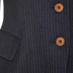 Philosophy di Alberta Ferretti Dark Grey Striped Wool Tailored Blazer M