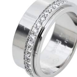 Piaget Possession Diamond 18K White Gold Ring Size 54