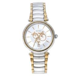 Balmain Silver Two Tone Stainless Steel Classica Lady Downtown 4072 Women's Wristwatch 35 mm