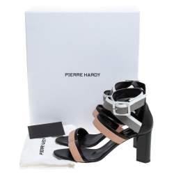 Pierre Hardy Multicolor Leather Alpha Buckle Cross Strap Sandals Size 40