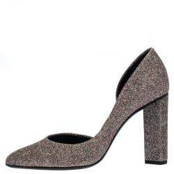 Pierre Hardy Multicolor Glitter Fabric D'orsay Pumps Size 38.5