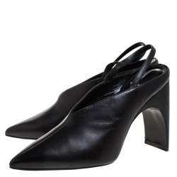 Pierre Hardy Black Leather Jessie Slingback Pumps Size 38.5