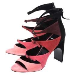 Pierre Hardy Multicolor Suede Cut Out Lula Sandals Size 38