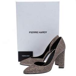 Pierre Hardy Multicolor Glitter Fabric D'orsay Pumps Size 37