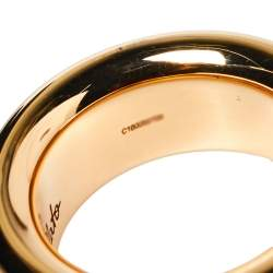 Pomellato Iconica 18K Rose Gold Large Band Ring Size 54