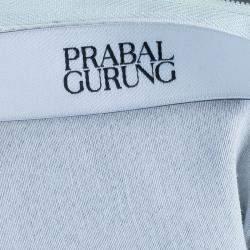 Prabal Gurung Printed Leather Sweatshirt Top S