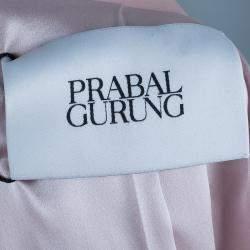 Prabal Gurung Snakeskin Patch Tuxedo Wrap Jacket S