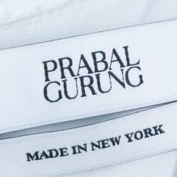 Prabal Gurung White Sleeveless Lace Insert Top M