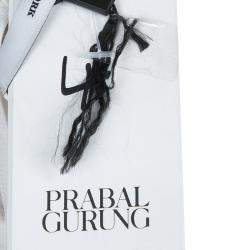Prabal Gurung White Silk Rose Applique Detail Sleeveless Top S