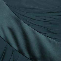 Prabal Gurung Green Chiffon Draped Asymmetric Skirt S