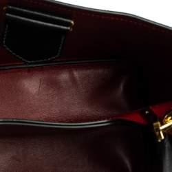 Prada Black Saffiano Leather Medium Panier Top Handle Bag