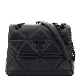 Prada Black Marmot Nappa Stitched Lambskin Leather Spectrum bag