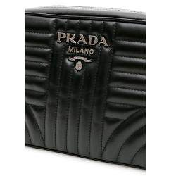 Prada Black Leather Diagramme Crossbody Bag