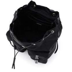 حقيبة ظهر برادا مرصعة نيو فلا سوداء