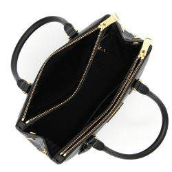حقيبة برادا صغيرة غالريا جلد فاخر سافيانو سوداء