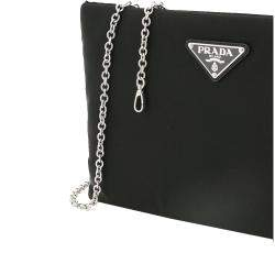 Prada Black Nylon Clutch on Chain