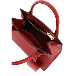 Prada Red Saffiano Leather Monochrome Bag
