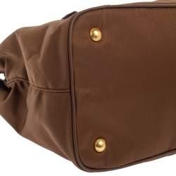 Prada Brown Tessuto Nylon and Leather Tote