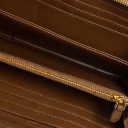Prada Cannella Quilted Soft Leather Zip Around Wallet