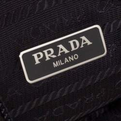 Prada Black Tessuto Nylon Re-Edition 2000 Baguette Bag
