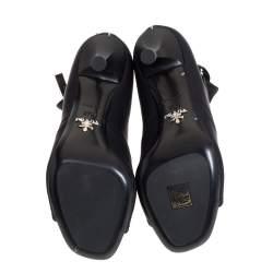 Prada Black Stretch Fabric Ankle Booties Size 37.5