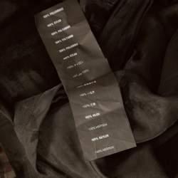 Prada Sport Black Knit Mesh Sheer Short Sleeve Top XS
