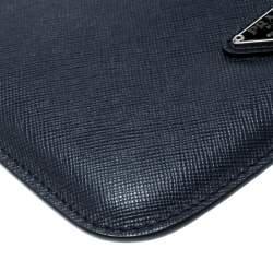 Prada Navvy Blue Saffiano Lux Leather iPad Case