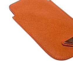 Prada Orange Saffiano Lux iPhone Cover